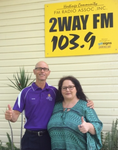 On the air waves at 2 Way FM Community Radio host Beverly image